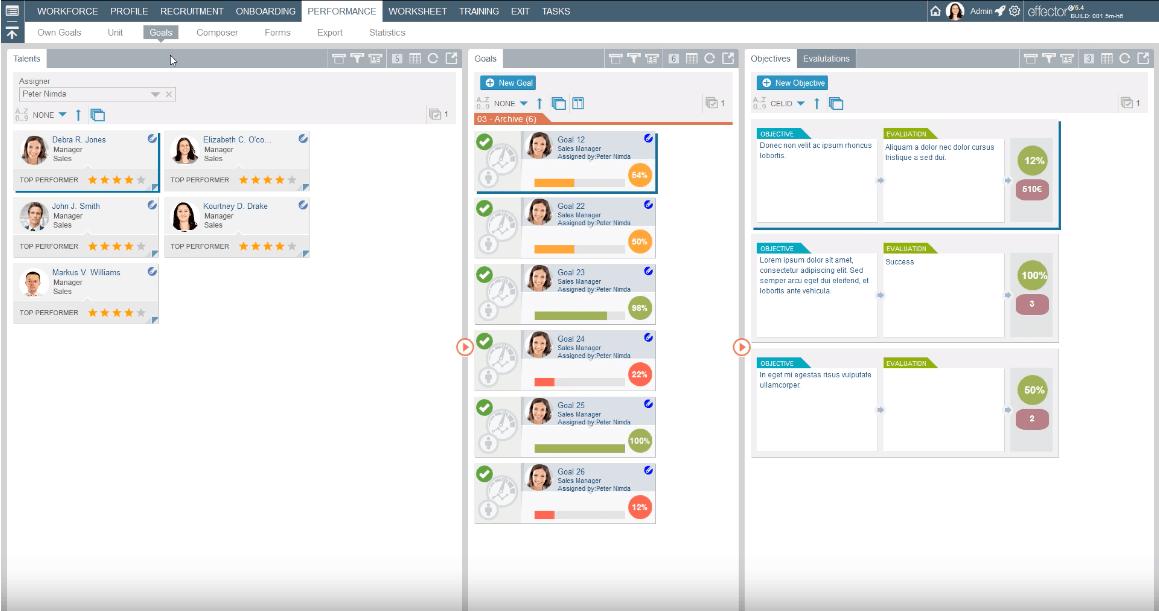 Oriana - Modular HR system template