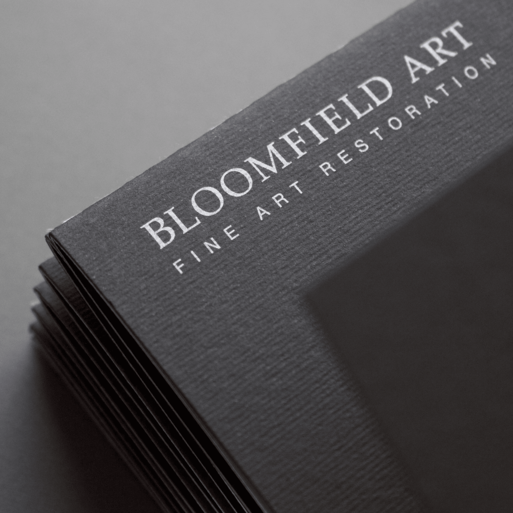 Bloomfield Art Restoration - services brochure