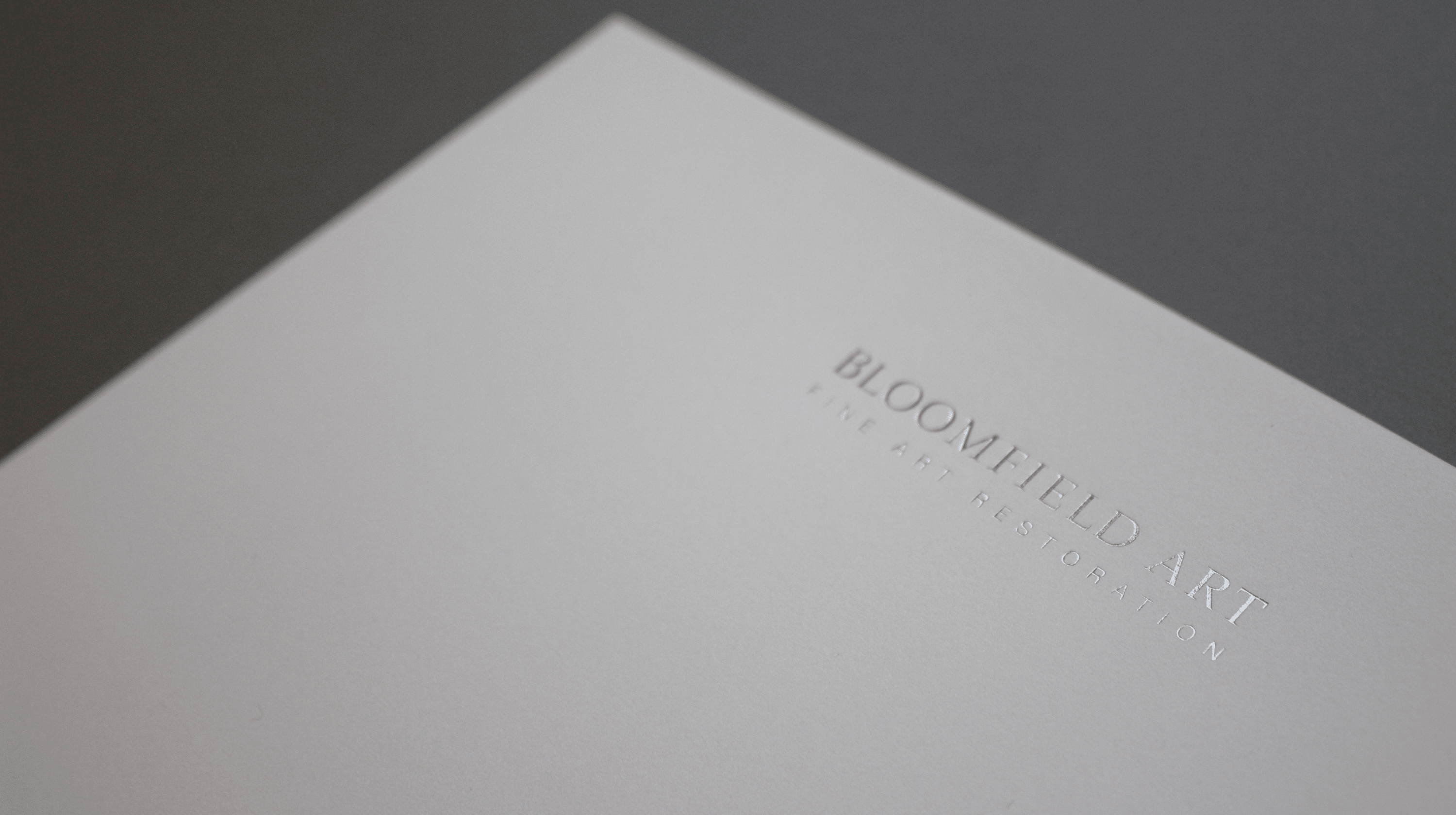 Letterhead with silver foil on the logo