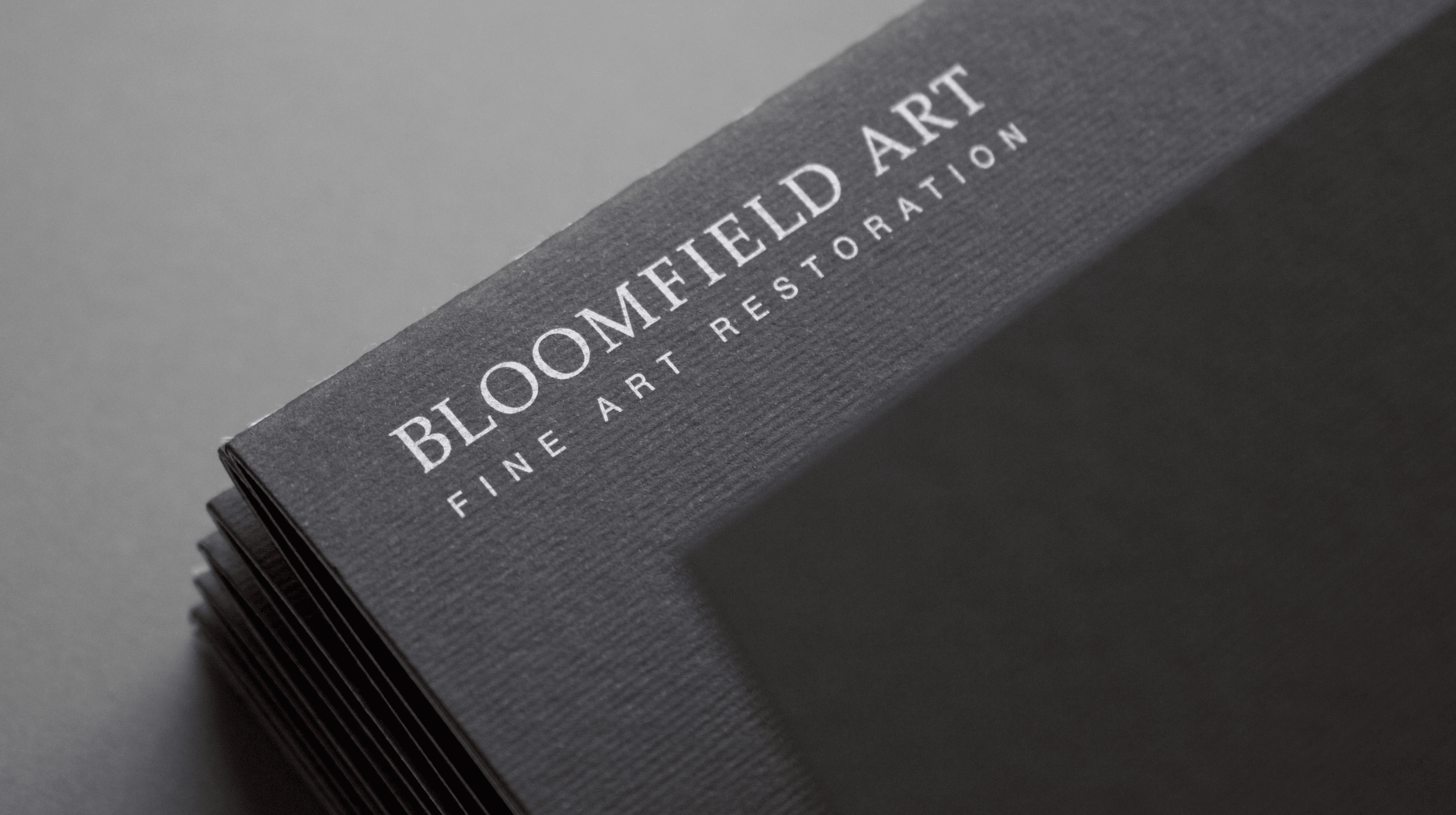 Bloomfield Art Restoration - services brochure