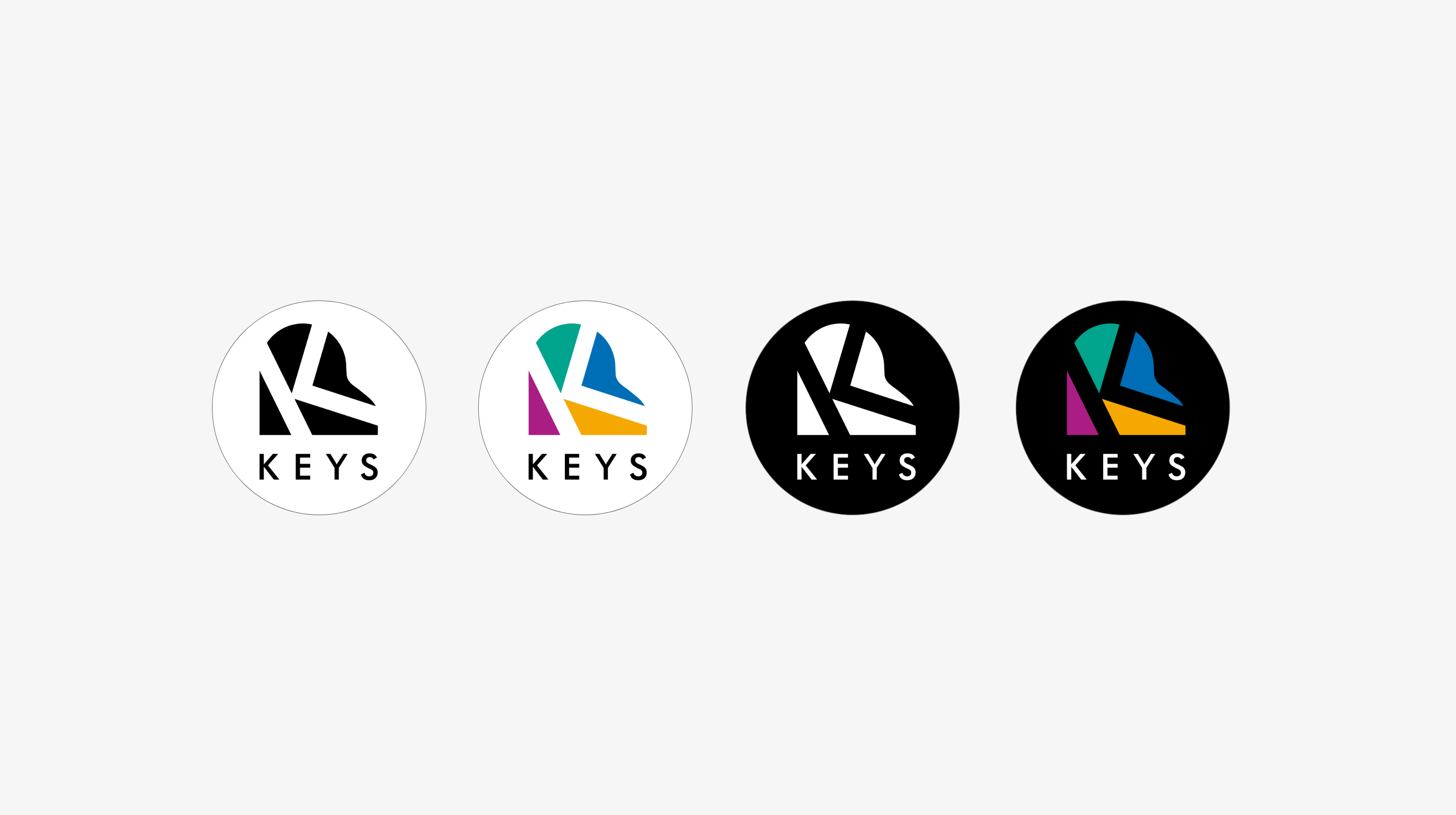Social media simple logo variations