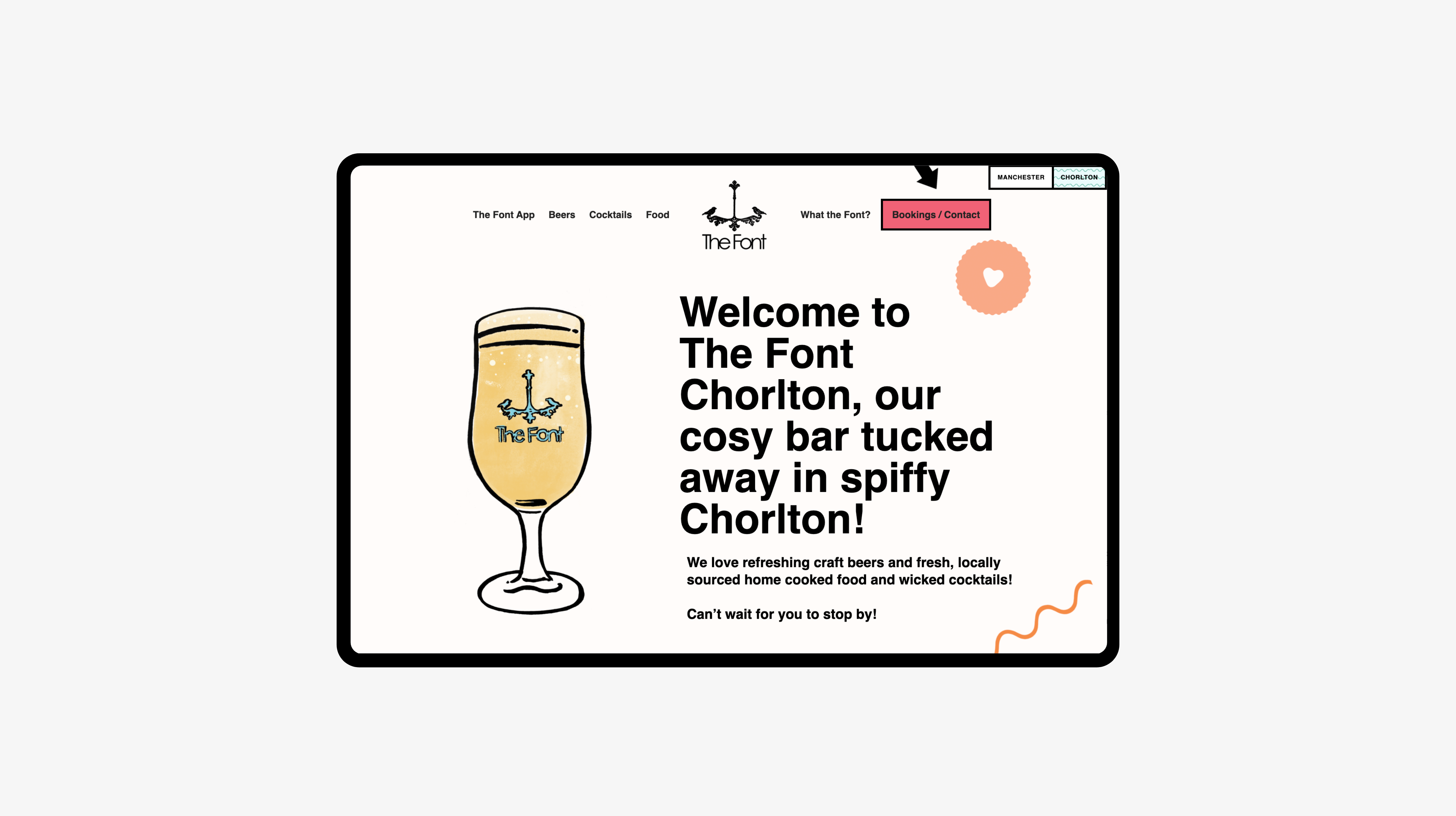 The Font Corlton home page