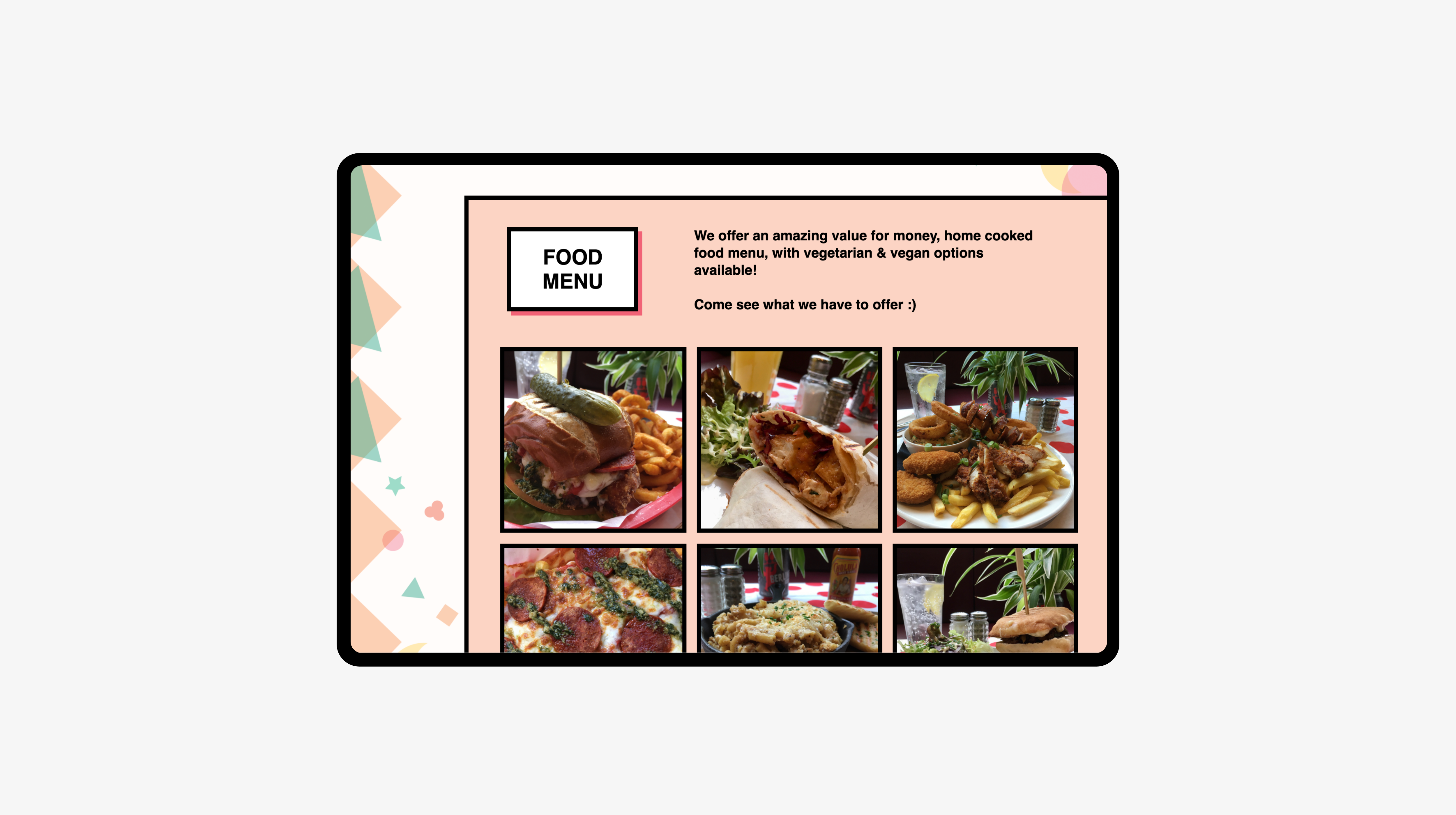 Food page