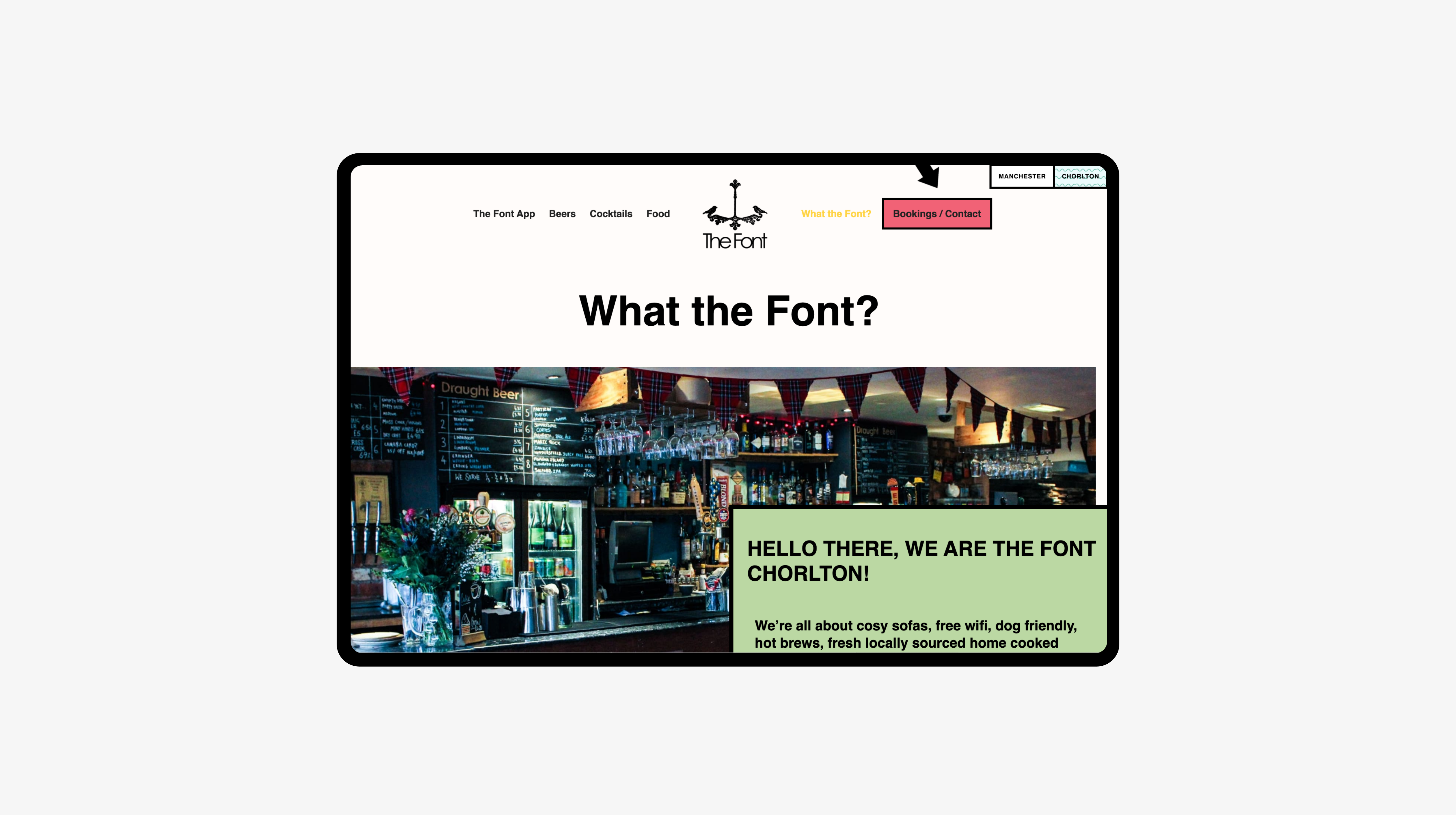 What the Font? page