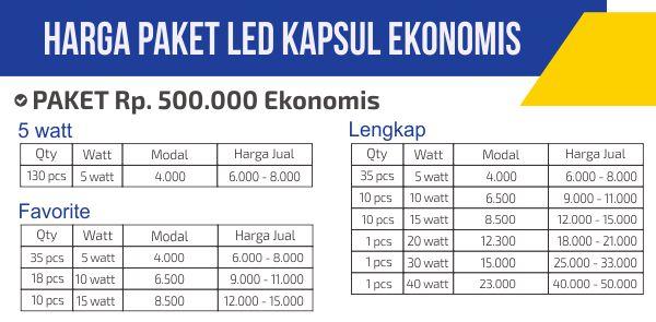 Daftar Paket Lampu Led Murah