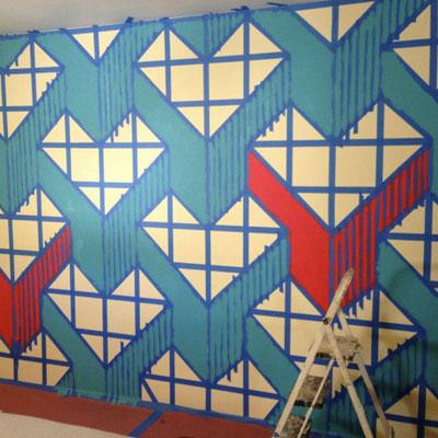 Aplikasi Painters Tape di Dinding