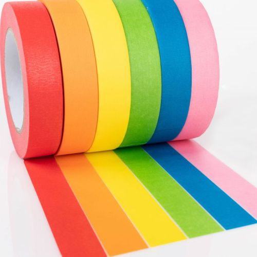 Colorful paper tape