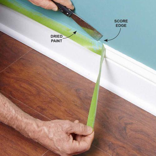 Kapan mengelupas masking tape dari dinding