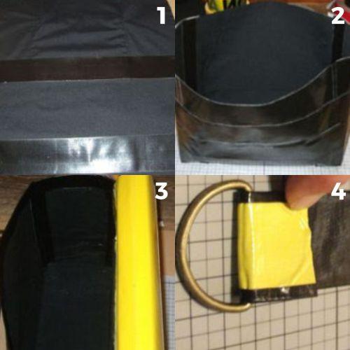 langkah bikin tas dari lakban