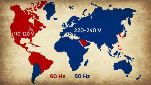 Pembagian voltase listrik di dunia