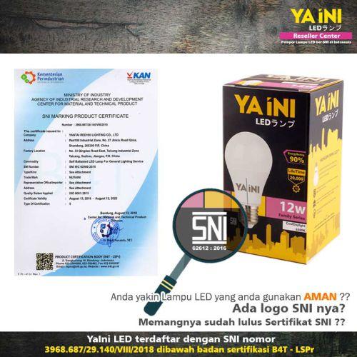 Lampu LED dengan logo SNI