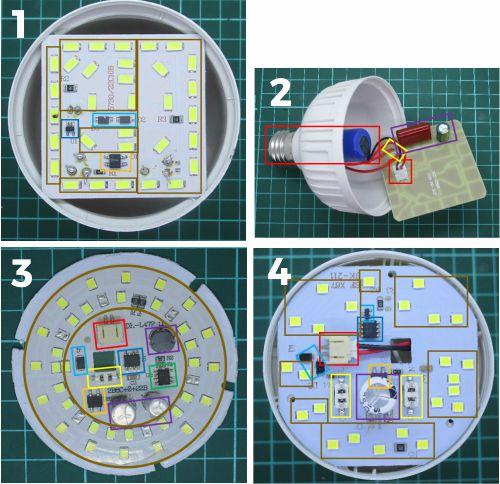 Modul-modul pada rangkaian lampu emergency led bohlam