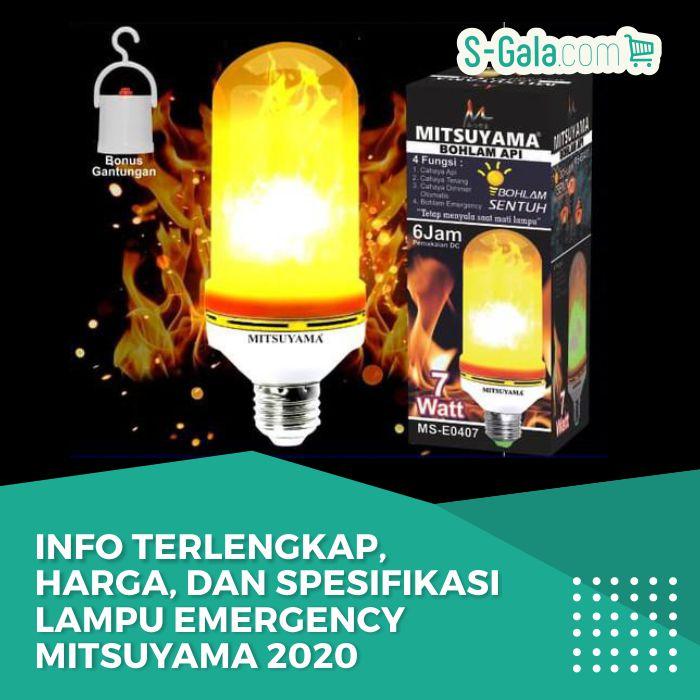 Lampu Emergency Mitsuyama