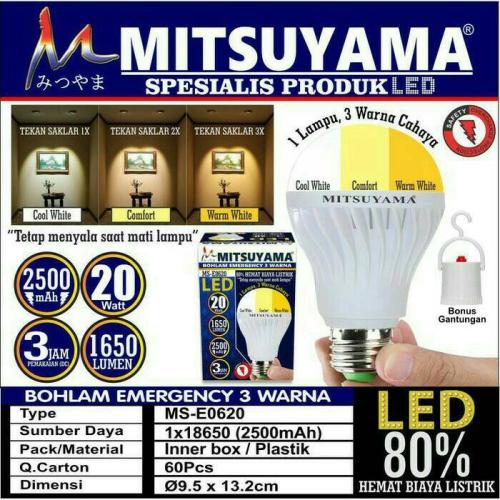 lampu emergency mitsuyama MSE-0620