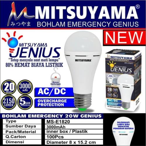 lampu emergency mitsuyama MS-E1820