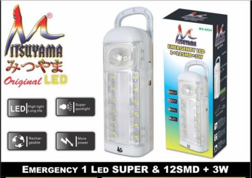 lampu emergency mitsuyama MS-6024