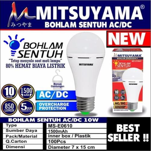 lampu emergency mitsuyama MS-E0610B 10W
