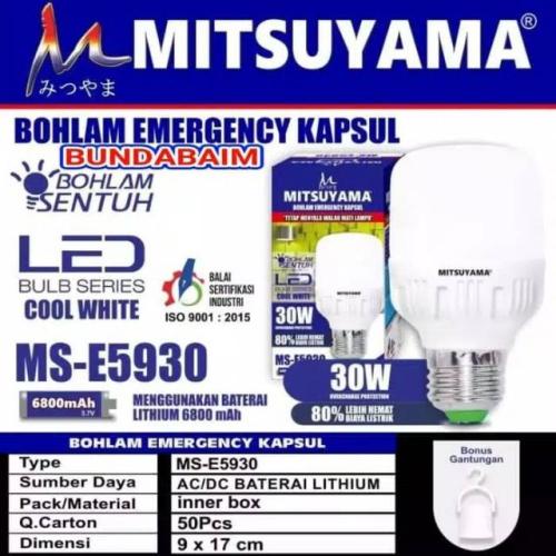 lampu emergency mitsuyama MS-E5930 30W