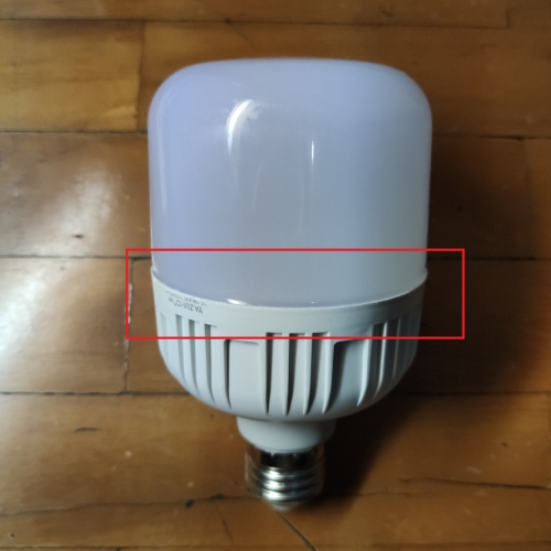 cara ganti baterai lampu emergency- bongkar penutup tembus cahayanya