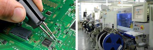 Komponen SMD dipasang oleh alat khusus