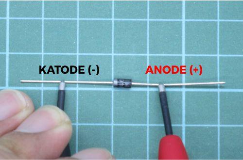 Menentukan katode dan anode pada diode