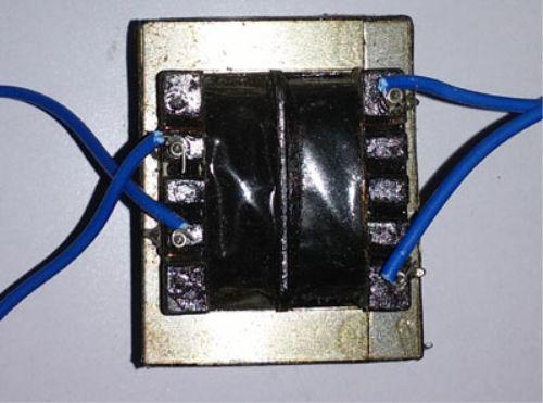 Contoh transformator pada rangkaian lampu emergency
