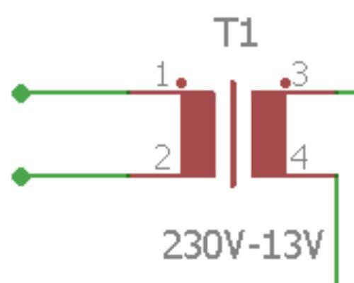 Simbol trafo pada rangkaian lampu emergency