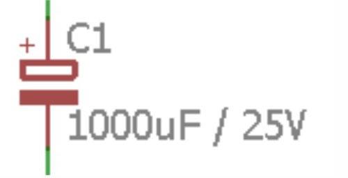 Contoh simbol kapasitor pada rangkaian listrik