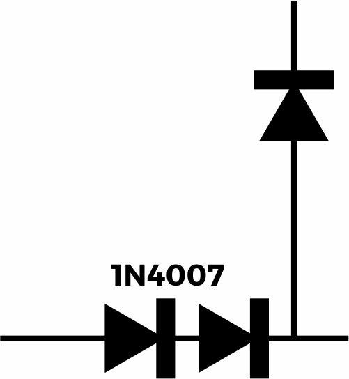 Simbol dioda pada rangkaian lampu emergency