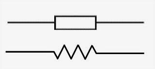 Tanda resistor pada rangkaian listrik
