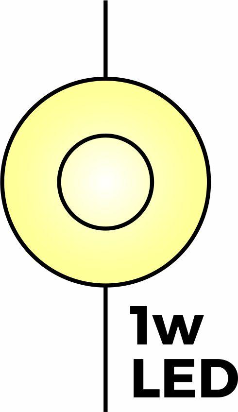 Simbol lampu LED pada rangkaian