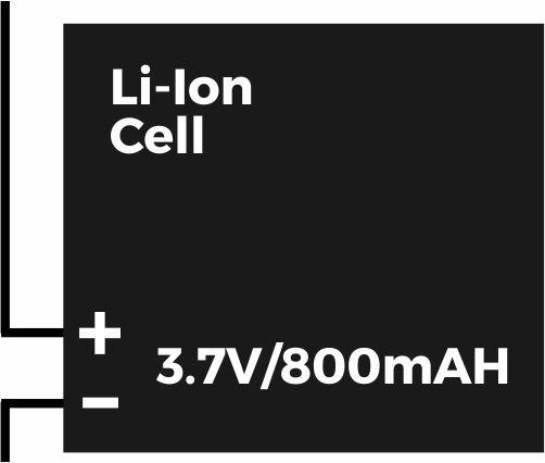 Simbol komponen pada rangkaian lampu emergency