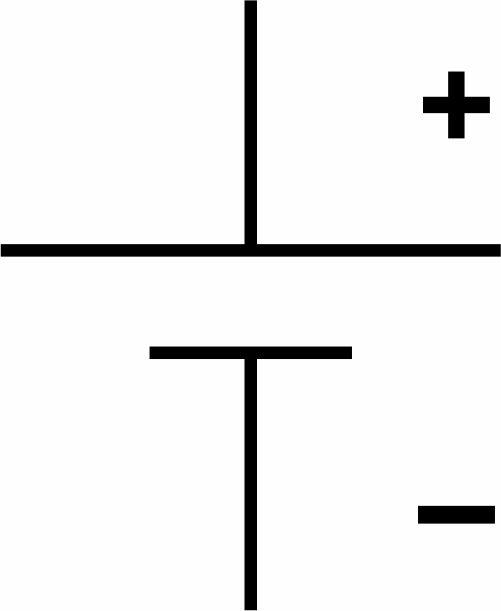 Simbol komponen baterai secara umum