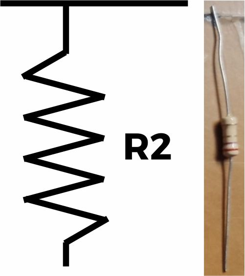 Resistor (R2) 2.7 ohm
