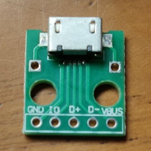 Micro USB to dip dalam lampu emergency DIY