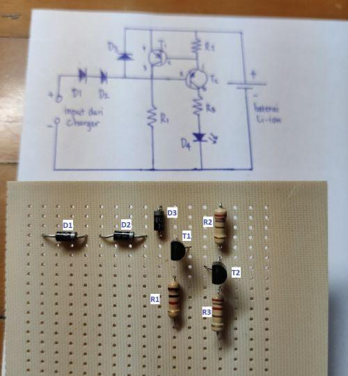 Langkah 1 membuat lampu emergency DIY