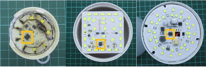 Melepas dioda lampu led sebelum dipasang pcb baru