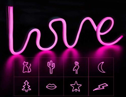 led strip light art- tulisan