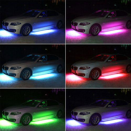 Neon LED di bawah mobil