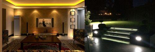Contoh penggunaan led strip di dalam dan luar ruangan