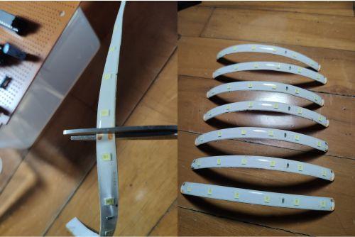 Cara memotong LED strip