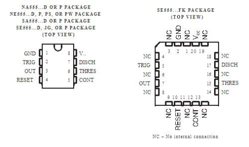 IC tipe 555 untuk led strip