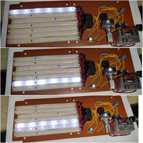 Cara tes rangkaian DIY Running LED Strip