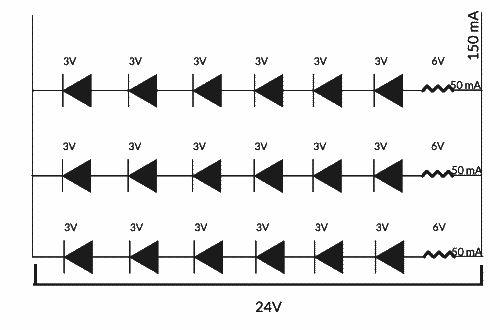 Rangkaian LED Strip analog single color