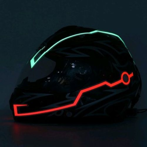 Modifikasi helm dengan neon flex