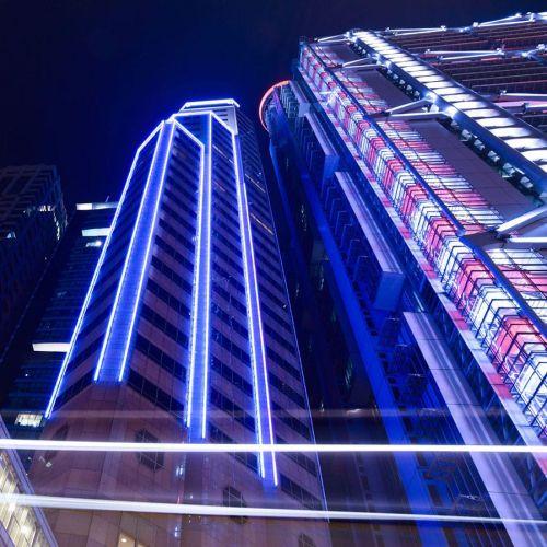 LED neon flex untuk gedung pencakar langit tipe wall wash