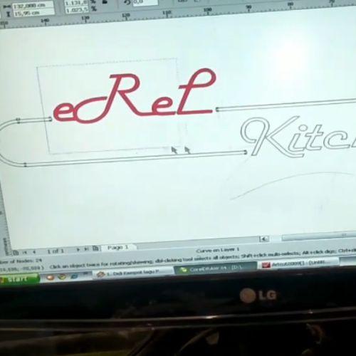 Membuat pola untuk logo dari neon flex