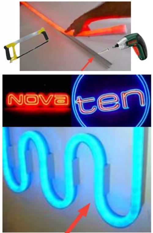 Langkah Menempelkan LED Neon Flex