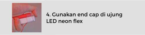 Langkah menggunakan quick connector untuk led neon flex