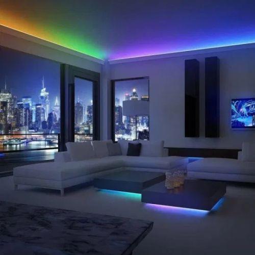 Contoh penggunaan led strip indoor